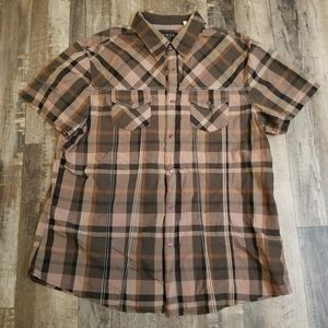 C2 Mens Guess Pearl Snap Button Front Shirt Short